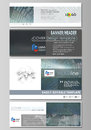 Social media and email headers set, modern banners. Business templates. Abstract design template, vector layouts in