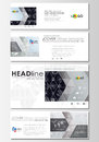 Social media and email headers set, modern banners. Business templates. Flat layouts in popular sizes. High tech design