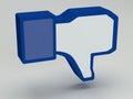 Social media facebook dis like icons as signs Stock Photos