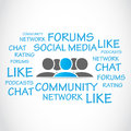 Social media forums abstract background Stock Photos