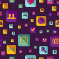 Social media icon pattern colorful network app this illustration is layered for easy manipulation and custom coloring Stock Photos