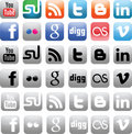 Social media icons Royalty Free Stock Images