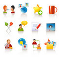 Social media icons Stock Images