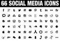 66 Social Media Icons black