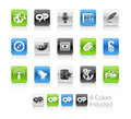 Social Media Icons // Clean Series Royalty Free Stock Photo