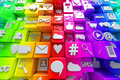 Social media icons colorful background Royalty Free Stock Image