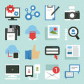 Social media icons minimal design Stock Photography