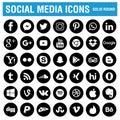 Social media icons black round Royalty Free Stock Photo