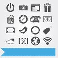 Social media icons set 3 Royalty Free Stock Photography