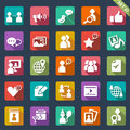 Social media icons set of Stock Photos