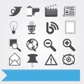 Social media icons set 4 Royalty Free Stock Image
