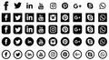 Social media icons for websites and applications Royalty Free Stock Photo