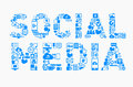 Social media icons set eps illustrator file concept Royalty Free Stock Photo