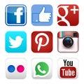 Stock Photo Social media icons