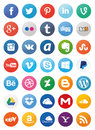 Social Media Icons (Set1) Royalty Free Stock Photo
