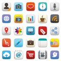 Social media icons set for web design Royalty Free Stock Images