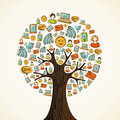Social media icons tree Royalty Free Stock Photos
