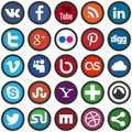 Social media icons vector set of Stock Photography