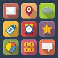 Social media icons for web or mobile vector illustration Stock Photos