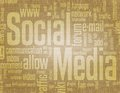 Social media illustration an of various keywords Stock Photos
