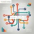 Sociální média šablona grafický prvky ilustrace