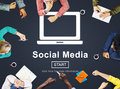 Social Media Internet Networking Technology Concept Royalty Free Stock Photo