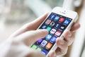 Social media on iPhone