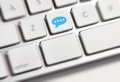 Social media key button on a keyboard showing the chat icon Stock Photography