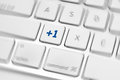 Social media key button on a keyboard showing the friend icon Stock Photography
