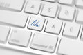 Social media key button on a keyboard showing the like icon Royalty Free Stock Photo