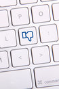 Social media key photo of button on the white keyboard Royalty Free Stock Photos