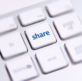 Social media key photo of button on the white keyboard Stock Photo