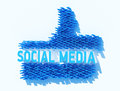 Social media keywords related to globalization Stock Photo