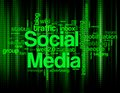 Social media keywords a vector illustration of various and www Stock Image