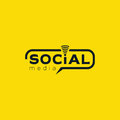 Social media logo. Color black vector design with wireless icon