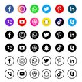 Collection of social media icons and logos