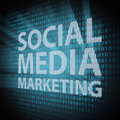 Social Media Marketing concept Royalty Free Stock Photos