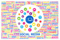 Social media for marketing online concept creative design by icon and letter jigsaw of Royalty Free Stock Images