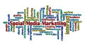 Social media marketing word cloud Royalty Free Stock Photo