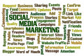 Social media marketing word cloud Stock Photography