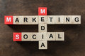 Social media marketing word made from crossword Royalty Free Stock Photo