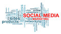 Social media marketing word tags Stock Images