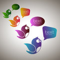 Social media messengers vector illustration of with copy space Royalty Free Stock Photography