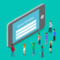 Social media mobile application network login. Soc