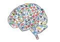 Social Media Network Human Brain Background