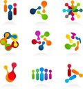 Social Media and network icons, vector set Royalty Free Stock Image