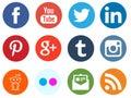 Social media network logos Royalty Free Stock Photo