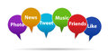 Social media and networking concept idea Royalty Free Stock Images