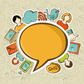 Sociální média sítě komunikace