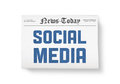 Social media news Stock Photography